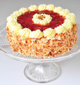 Ovocný dort s krémem - jahoda