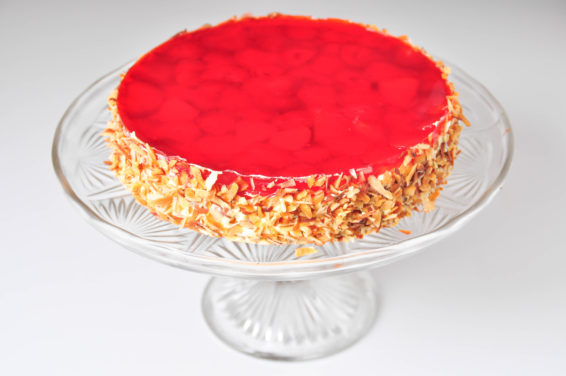 Jahodový dort s agarem
