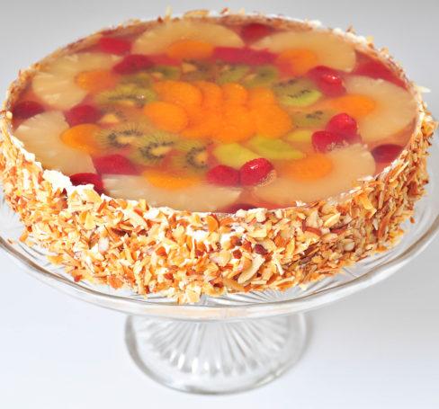 Ovocný dort s agarem